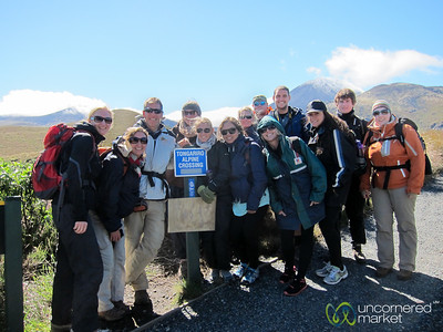 Our G Adventures Group at Tongariro - New Zealand