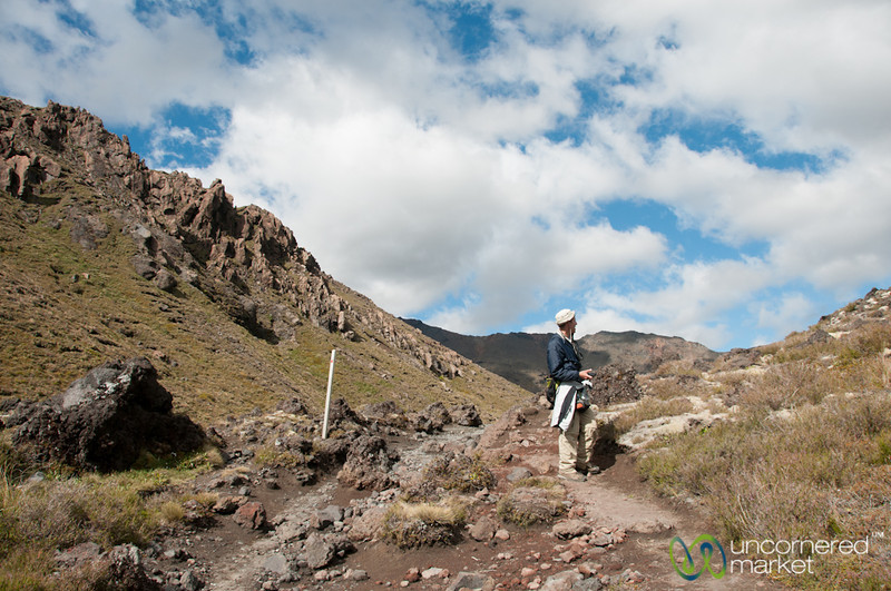 Dan Enjoying Scenery at Tongariro National Park - New Zealand
