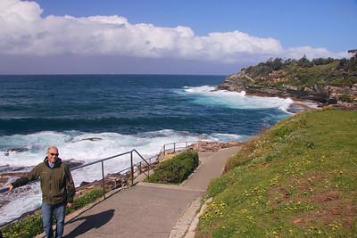 Beginning the 2.5 mile Coastal Walk from Bondi Beach to Bronte Beach