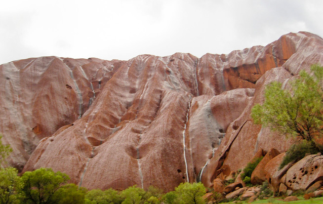 Waterfalls on Uluru, Ayers Rock