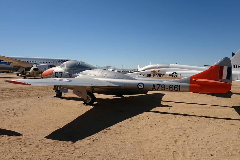 A79-661 (57) de Havilland DH-115 Vampire T.35 c/n 4183 Pima/14-11-16
