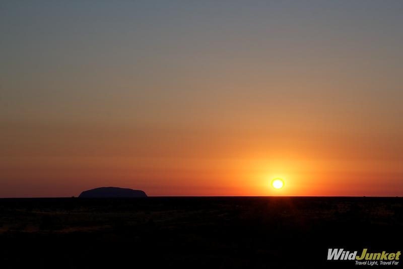 Sun slowly rising