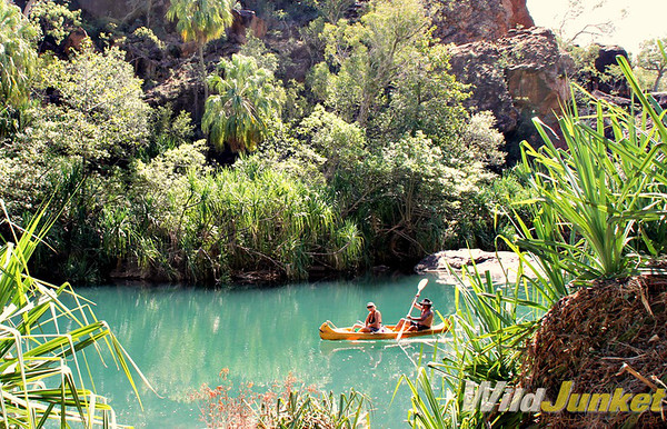 Kayaking in Lawn Hill Creek