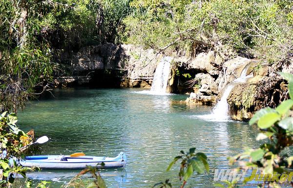 Swimming in Indarri Falls