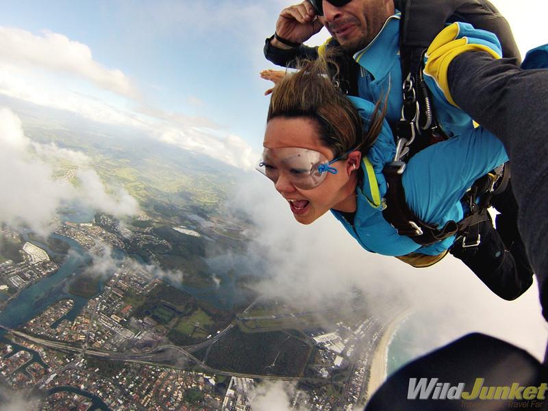 Travel blogger Skydiving in Queensland