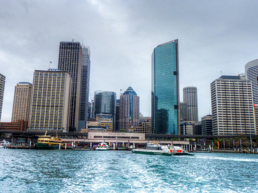 The Sydney, Australia Skyline View From Circular Quay