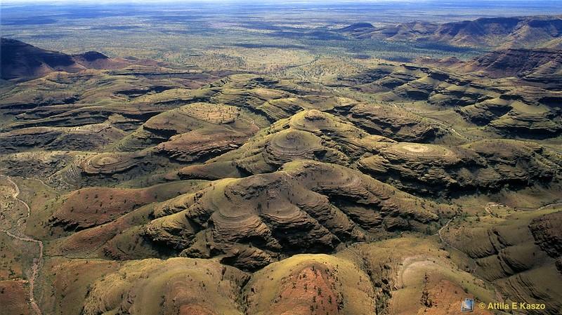 Fortescue Rv., - Beehive Ranges - Aerial<br /> Hamersley Range, WA