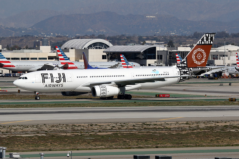 "DQ-FJV Airbus A330-243 ""Fiji Airways"" c/n 1465 Los Angeles/KLAX/LAX 26-01-18"