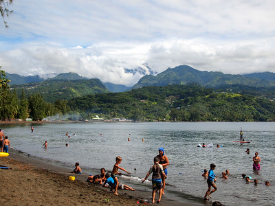 Local beach on Tahiti