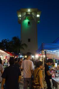 The night market...