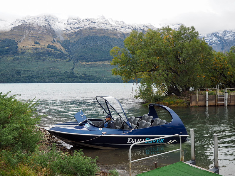 Dart River jet boat in Glenorchy