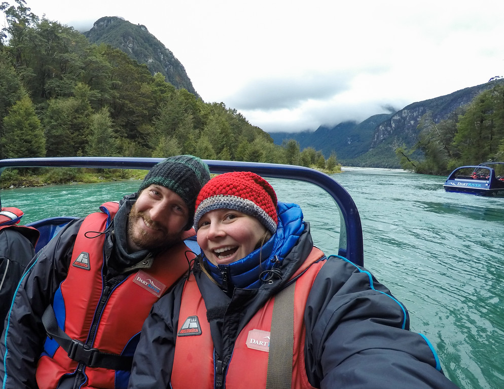 Jet boating on the Dart River in New Zealand