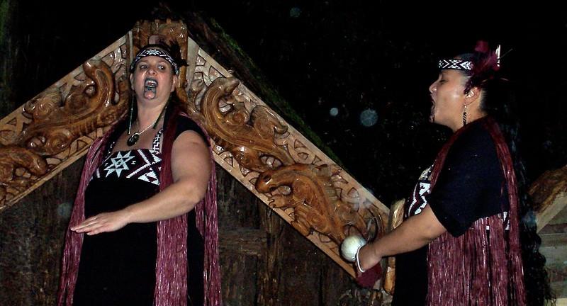 Maori women in Rotorua