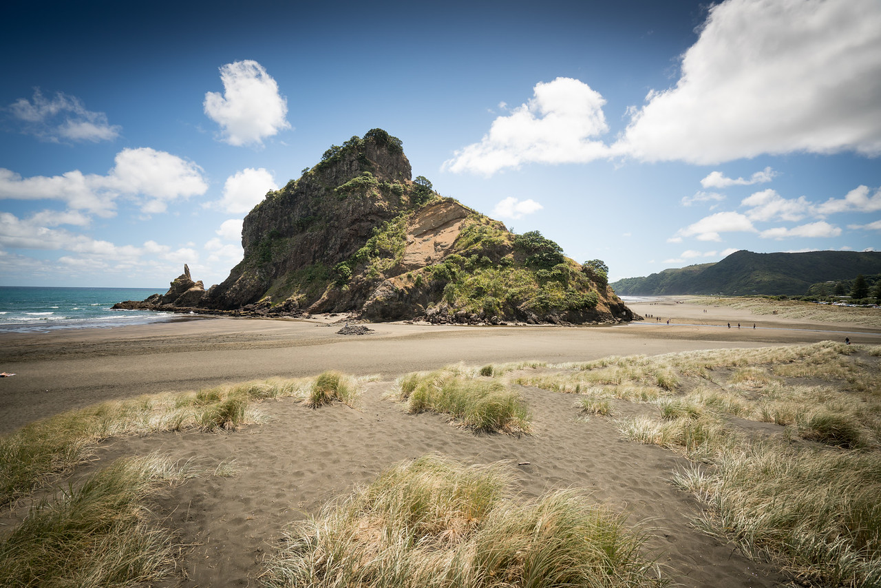 Lion Rock, at Piha Beach.