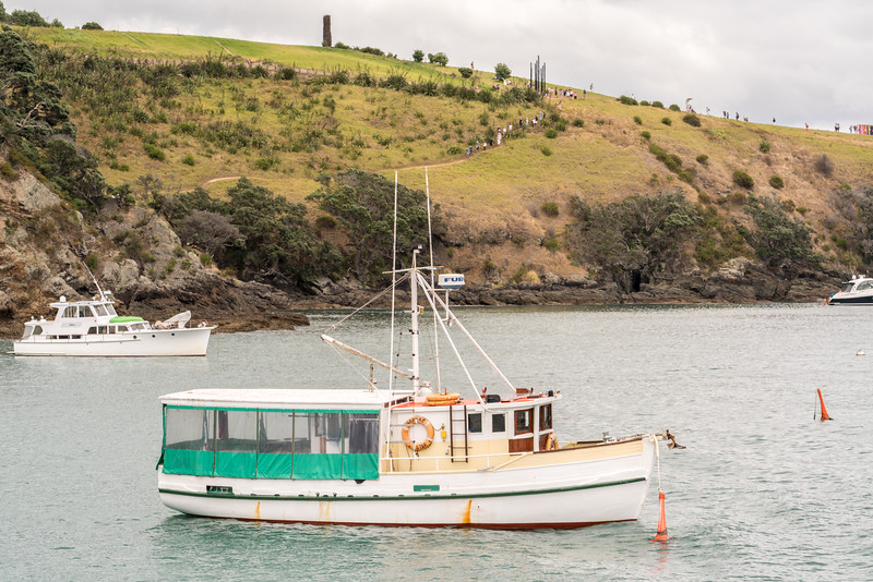 A fishing boat off the ferry landing on Waiheke Island.