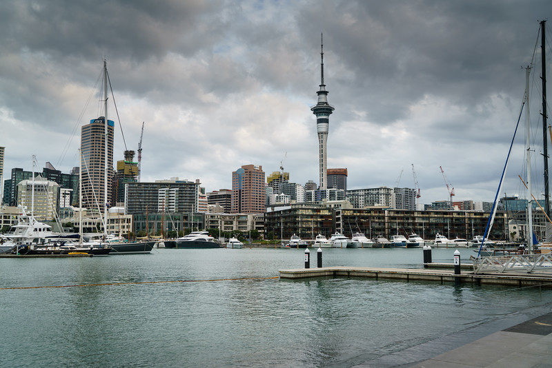 Downtown Auckland from the Viaduct Basin.