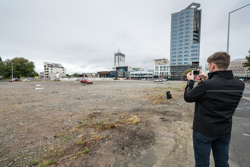 Half or downtown Christchurch is still vacant lots.
