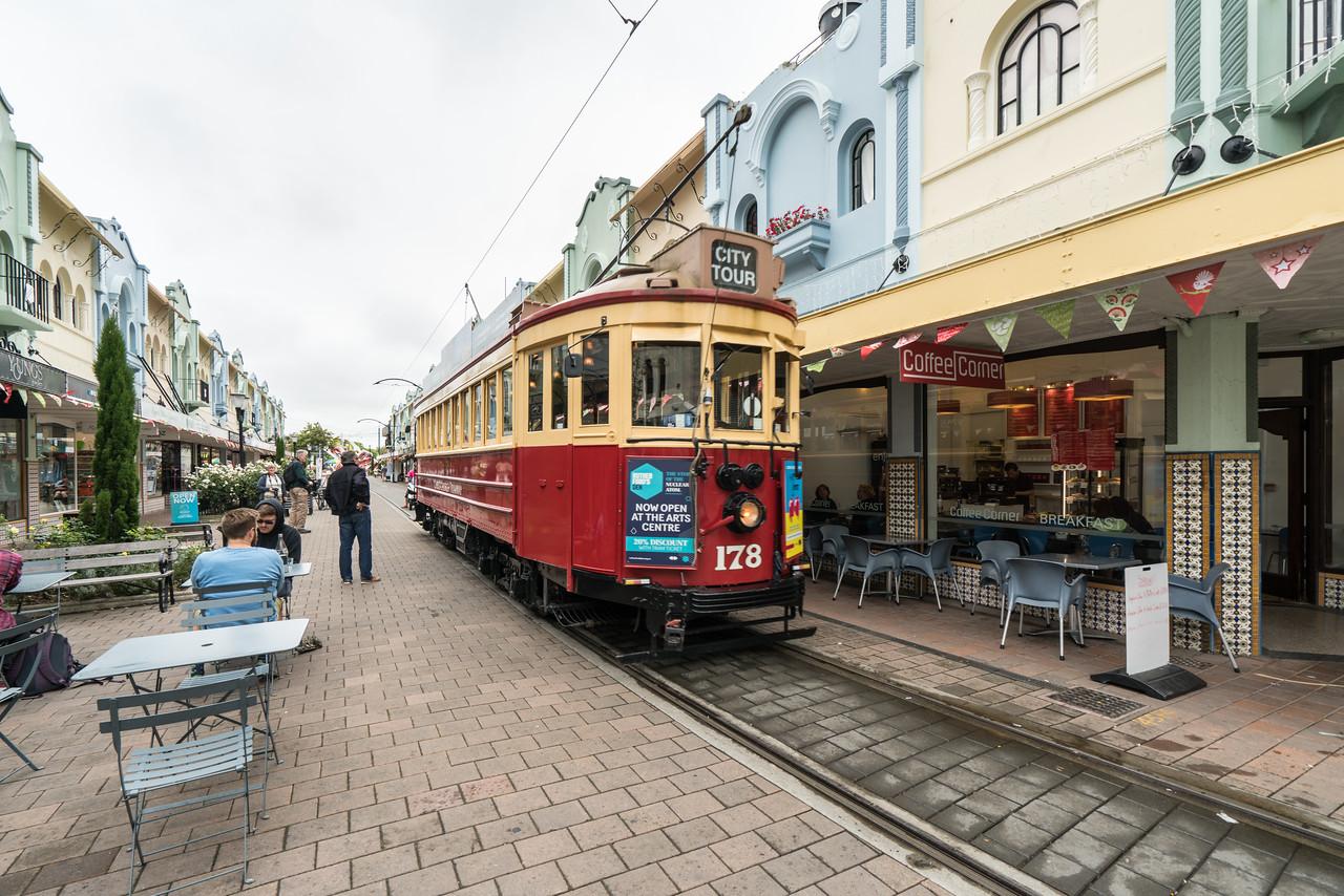Christchurch Tramway on New Regent Street.