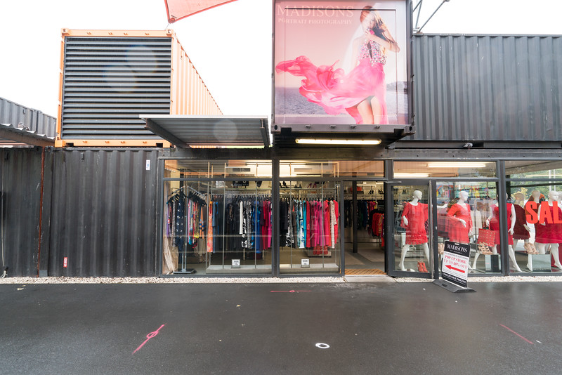 The Re: START Container Mall brings a little life to downtown Christchurch.