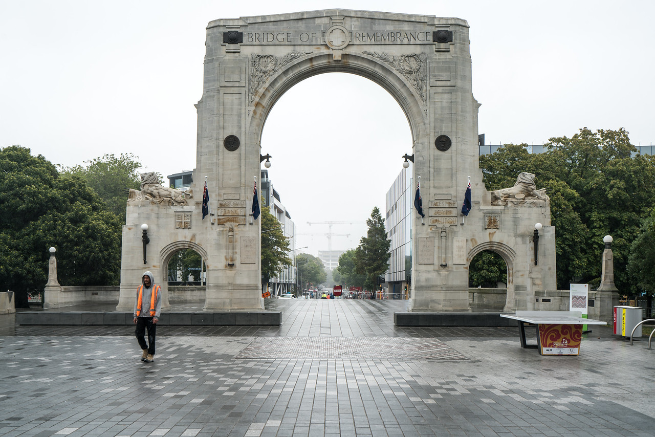 The Bridge of Remembrance is one of two main war memorials in Christchurch, New Zealand. It is dedicated to those who died in World War I, and serves as a memorial for those who participated in two World Wars as well as subsequent conflicts in Borneo, Korea, Malaya, and Vietnam.
