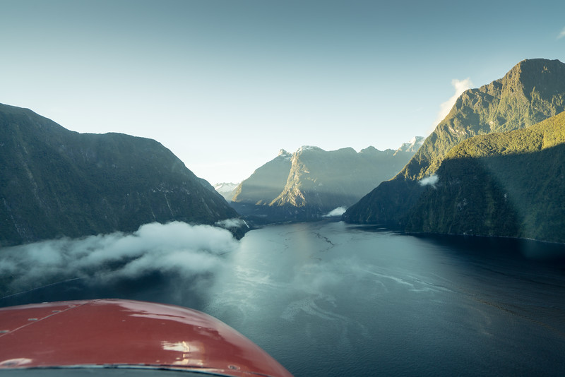 Approaching Milford Sound Airport.
