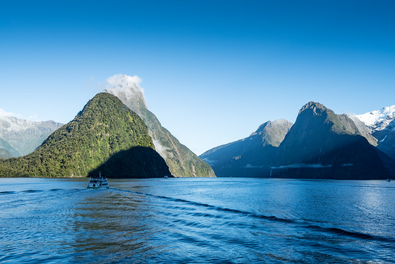 Exploring Milford Sound.