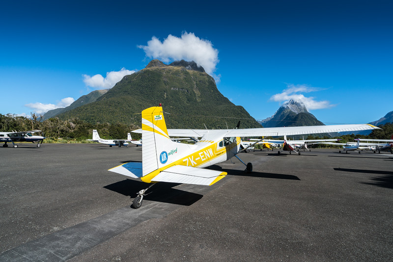 Mitre Peak from the Milford Sound Airport.