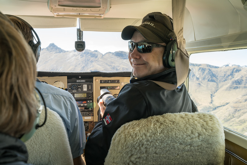 Tim is making sure or pilot gets it right.