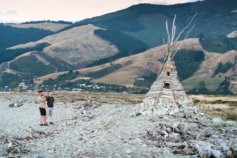 The Boulder Bank teepee. It was built by a guy named Mike Baker. He is a local mental health worker and built it as a therapy project for himself and some local youths.