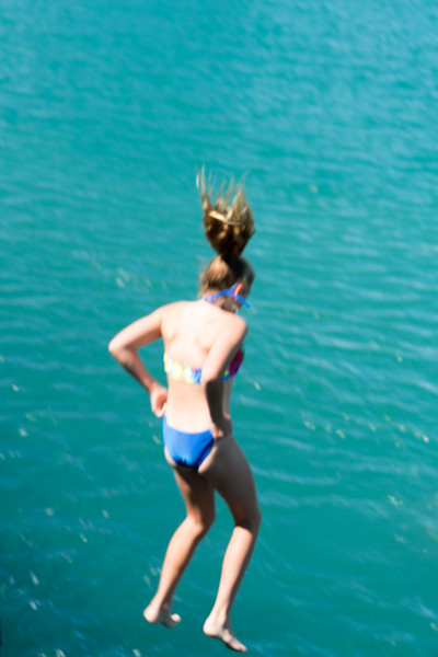 Kids like to hang out at Mapua Wharf and jump into the water from the dock.
