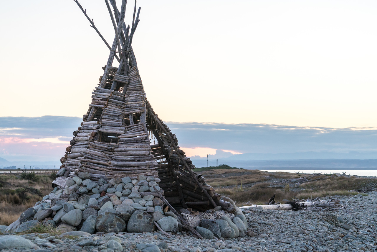 "The teepee was featured in the BBC series Coast. You can read more about it here  <a href=""http://www.stuff.co.nz/nelson-mail/news/67722539/nelsons-boulder-bank-teepee-featured-in-bbc-doco-coast"">http://www.stuff.co.nz/nelson-mail/news/67722539/nelsons-boulder-bank-teepee-featured-in-bbc-doco-coast</a>"