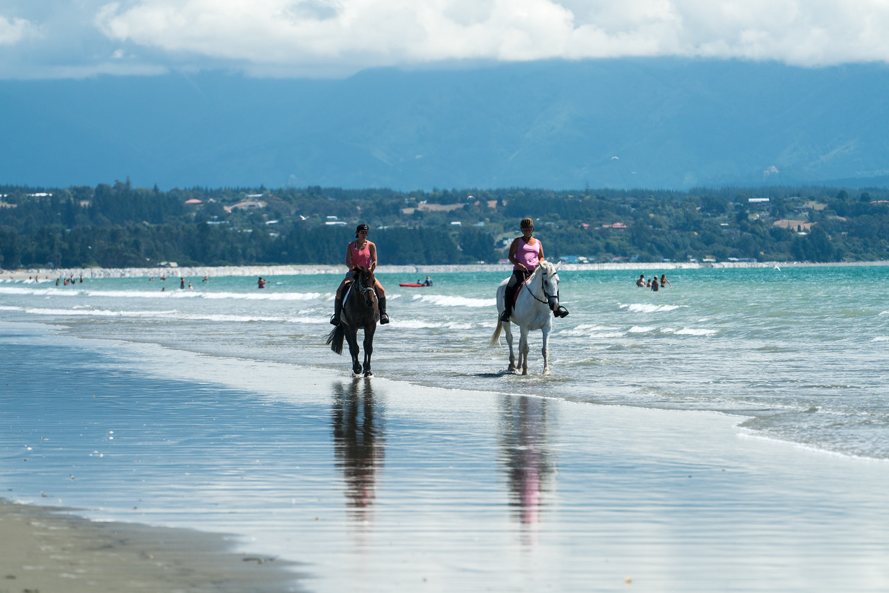 Horseback riding is popular on Rabbit Island.
