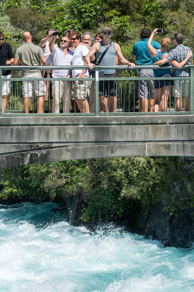 Tim on the Huka Falls overlook bridge.