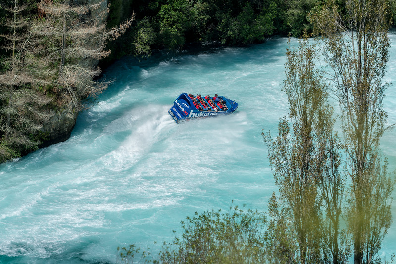 The Huka Falls Jet Boat.