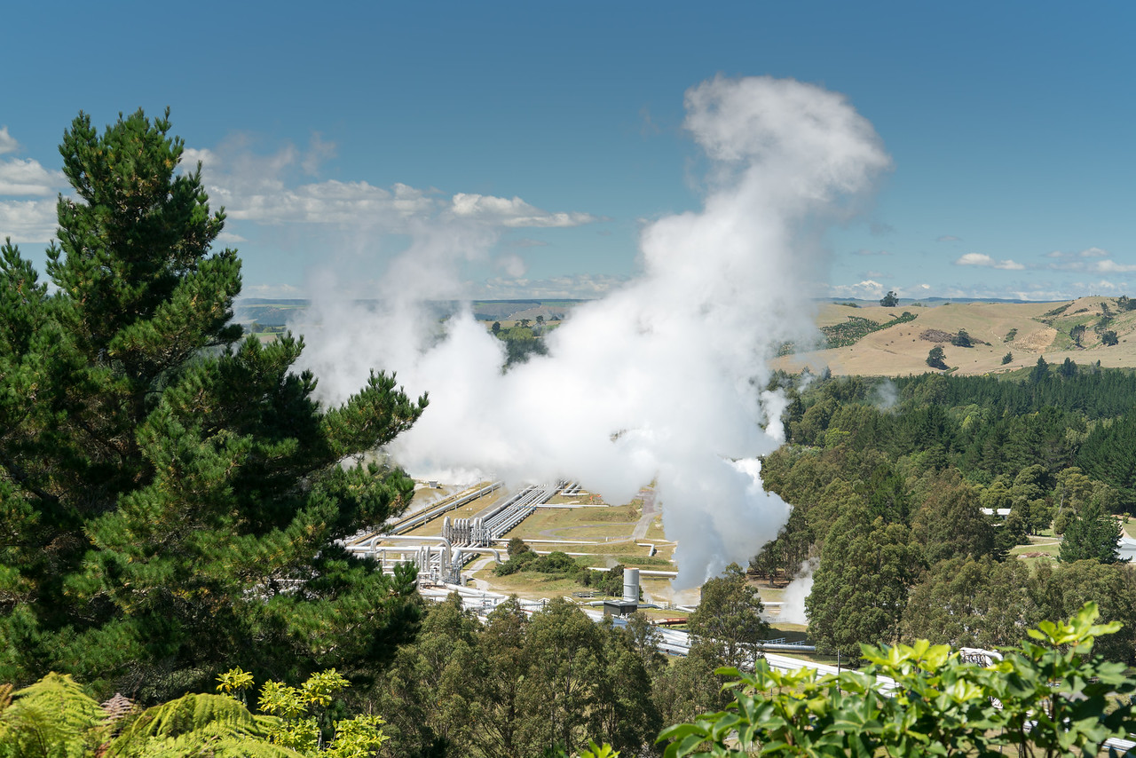Wairakei Geothermal Station View Point.
