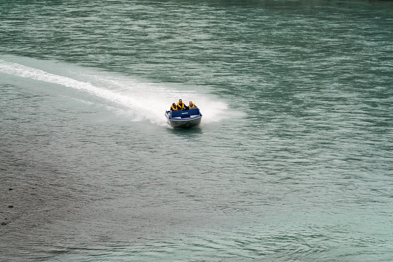 Speeding down the river!