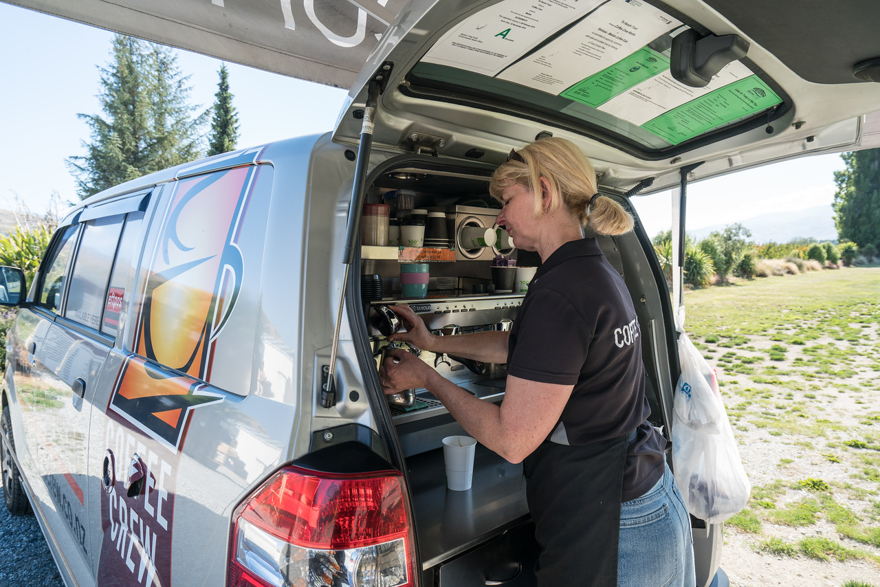 I love the many mobile coffee shops they have in New Zealand!