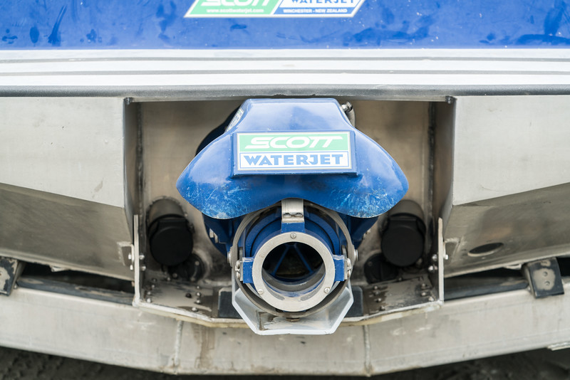 The business end of the jet boat.