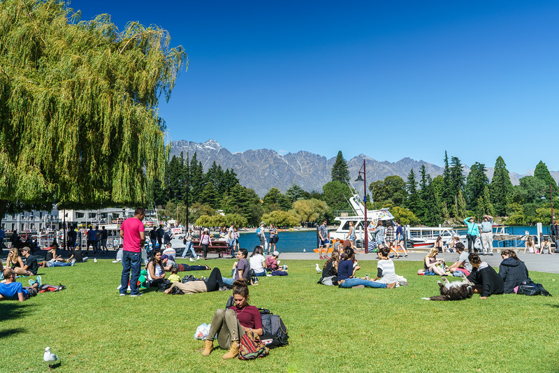 Folke are making the best of the dreadful weather in Queenstown.