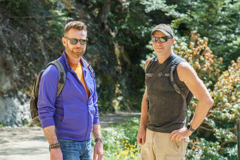 Shawn and Tim, hiking their little hearts out.
