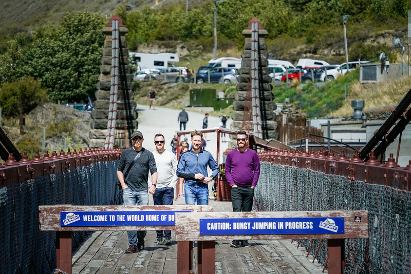 The gang on the Kawarau River Bridge.
