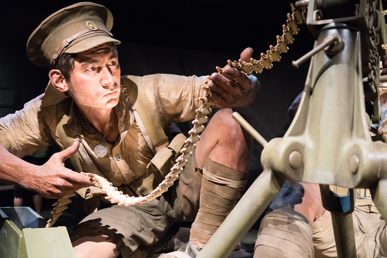 Rikihana Carkeek is one of eight models of real-life Kiwis who served in the war, reproduced at 2.4 times human scale in the exhibit. Each figure weighs between 90kg and 150kg, and all eight took 24,000 hours to build and install.