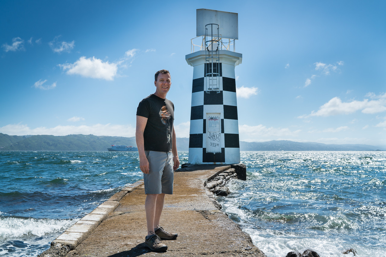Me at Point Halswell Lighthouse.