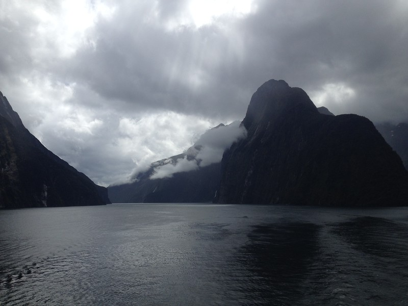 Dramatic view of Milford Sound