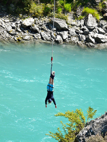 Bungy jumping near Queenstown, New Zealand