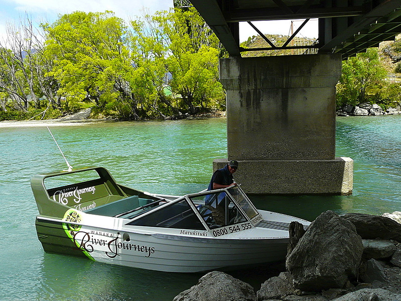 Jet boat excursion on Wanaka River Journeys in Wanaka, New Zealand