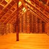 Inside the Maori meeting house, Auckland Museum