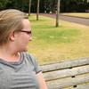 Claire makes a friend, Albert Park, Auckland