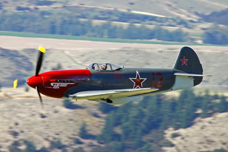 ZK-YYY (12 red) Yakovlev Yak-C 11 Yak-3UA Replica c/n 1701231 Wanaka/NZWF/WKA 06-04-12