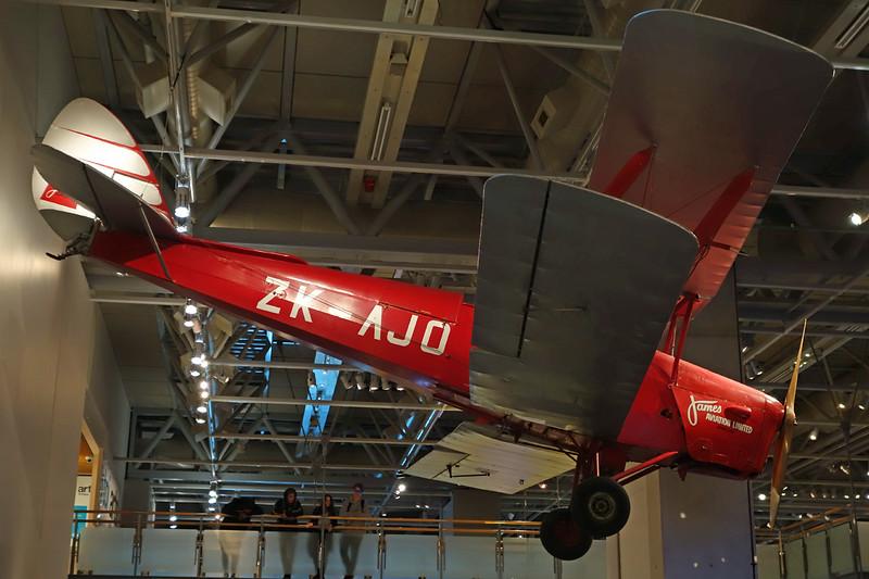 ZK-AJO de Havilland DH-82A Tiger Moth c/n DHA489 Wellington-Te Papa 16-01-15
